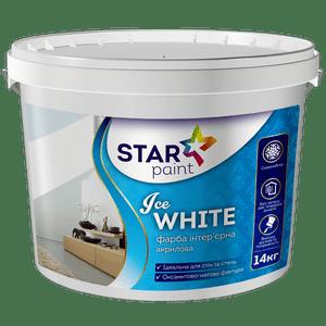 Ice WHITE краска для стен и потолков Star Paint