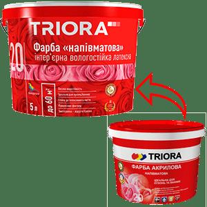 Краска акриловая полуматовая TRIORA