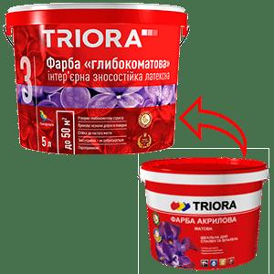 Краска акриловая матовая TRIORA