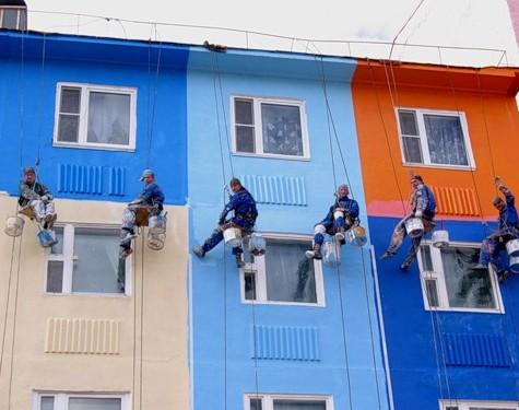 Как красить фасад?